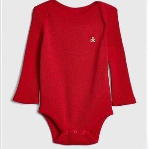 5/$25 GAP Red Waffle Knit Bodysuit